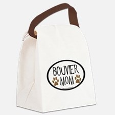 bouvier mom two paws.png Canvas Lunch Bag