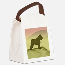 hazy sunrise bouvier sq.jpg Canvas Lunch Bag