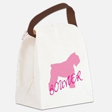 bouvier pink text.png Canvas Lunch Bag