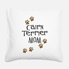 cairn terrier mom wh.png Square Canvas Pillow