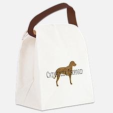 catahoula leopard print txt.png Canvas Lunch Bag