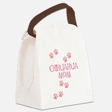 chihuahua mom pink.png Canvas Lunch Bag