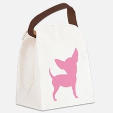 silly chihuahua pink.png Canvas Lunch Bag