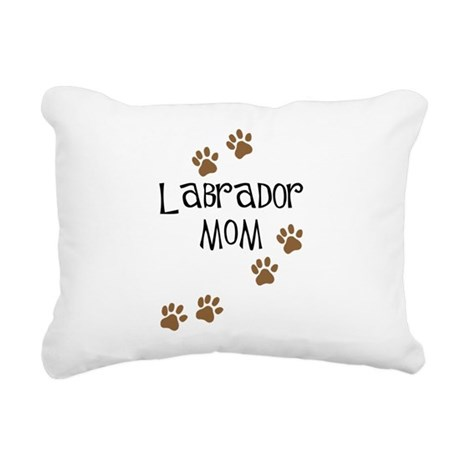 labrador mom.png Rectangular Canvas Pillow