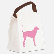Pink Coonhound Canvas Lunch Bag