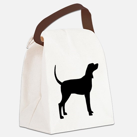 Coonhound Dog (#2) Canvas Lunch Bag