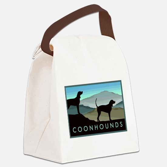 Blue Hills Coonhounds Canvas Lunch Bag