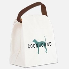 coonhound text.png Canvas Lunch Bag