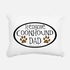 redbone coonhound dad.png Rectangular Canvas Pillo