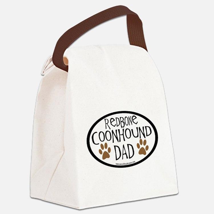 redbone coonhound dad.png Canvas Lunch Bag