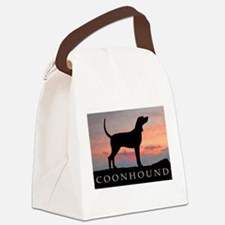 coonhound sunset.jpg Canvas Lunch Bag