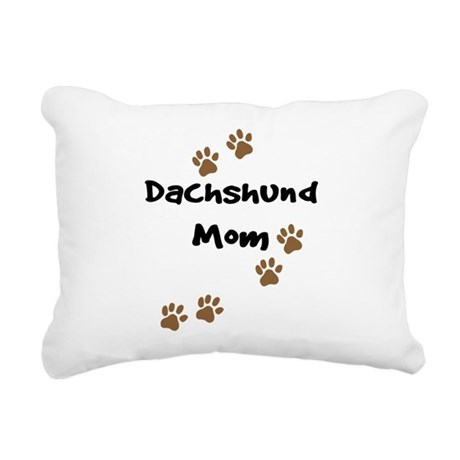 2-dachshund mom.png Rectangular Canvas Pillow