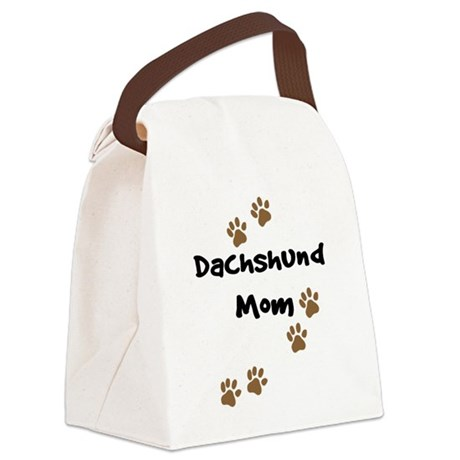 2-dachshund mom.png Canvas Lunch Bag