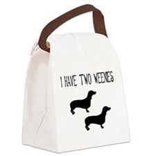 i have two weenies two tr.png Canvas Lunch Bag