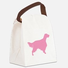 2-english setter pink.png Canvas Lunch Bag