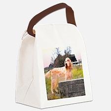 english setter barn sq2.jpg Canvas Lunch Bag