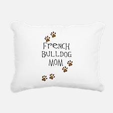 2-french bulldog mom.png Rectangular Canvas Pillow
