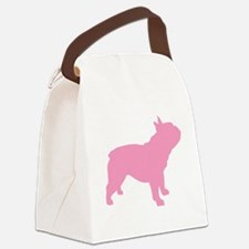 french bulldog pink.png Canvas Lunch Bag