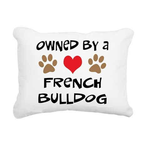 french bulldog 2.png Rectangular Canvas Pillow