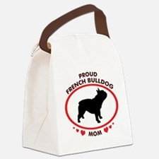 proud french bulldog mom.png Canvas Lunch Bag
