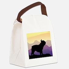 purple mt french bulldog wd.jpg Canvas Lunch Bag