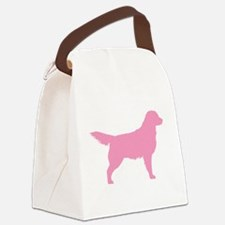 golden retriever pink.png Canvas Lunch Bag