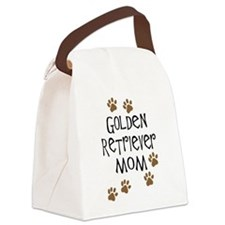 golden retriever mom.png Canvas Lunch Bag