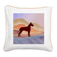 Mountain Mirage Great Dane Square Canvas Pillow