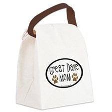 Great Dane Mom Oval Canvas Lunch Bag