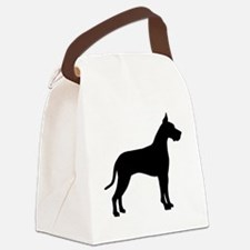 great dane black.png Canvas Lunch Bag