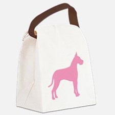 great dane pink.png Canvas Lunch Bag