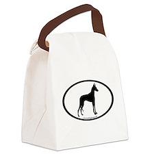 ibizan hound oval Canvas Lunch Bag