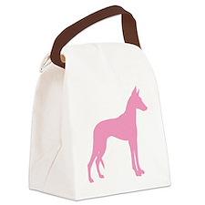 Pink Ibizan Hound Canvas Lunch Bag