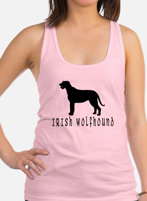 irish wolfhound dog text2 wd.png Racerback Tank To