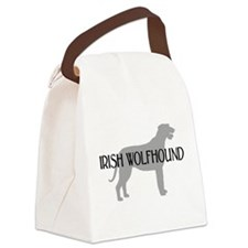 irish wolfhound text.png Canvas Lunch Bag