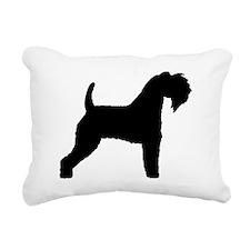 Kerry Blue Terrier Rectangular Canvas Pillow