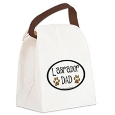 labrador dad car sticker.png Canvas Lunch Bag