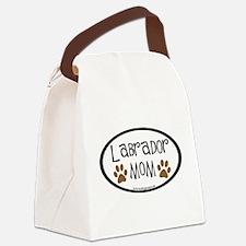 labrador mom car sticker.png Canvas Lunch Bag