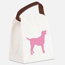 pink labrador retriever Canvas Lunch Bag