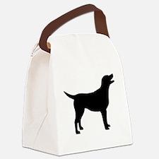 labrador black.png Canvas Lunch Bag