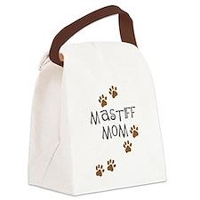 mastiff mom.png Canvas Lunch Bag