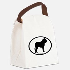 car sticker mastiff blk.png Canvas Lunch Bag