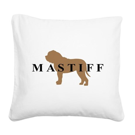 mastiff text.png Square Canvas Pillow