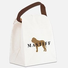 mastiff text.png Canvas Lunch Bag