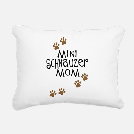 mini schnauzer mom.png Rectangular Canvas Pillow