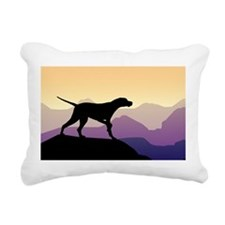 Purple Mountains Pointer Rectangular Canvas Pillow
