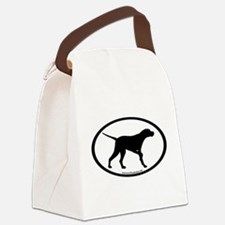 pointer dog oval.png Canvas Lunch Bag