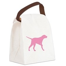 pointer pink.png Canvas Lunch Bag