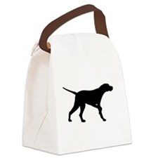 pointer black.png Canvas Lunch Bag