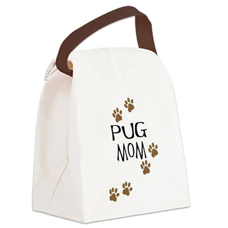 pug mom.png Canvas Lunch Bag